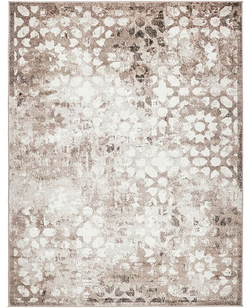 Bridgeport Home Basha Bas5 Brown 9' x 12' Area Rug