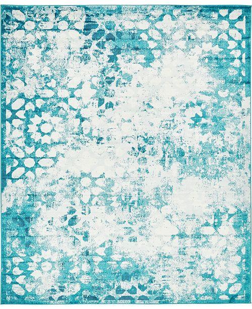 Bridgeport Home Basha Bas5 Turquoise 8' x 10' Area Rug