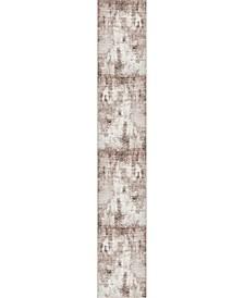 Basha Bas6 Dark Beige 2' x 13' Runner Area Rug