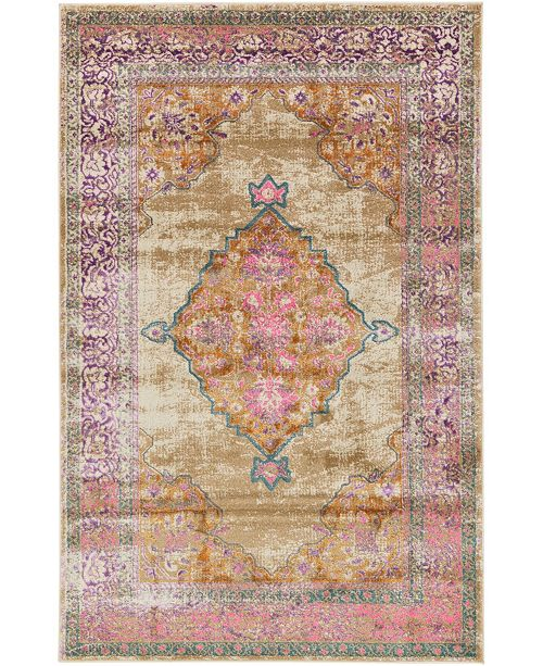 Bridgeport Home Aroa Aro1 Beige 5' x 8' Area Rug
