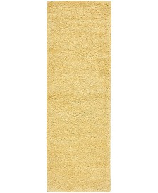 "Bridgeport Home Uno Uno1 Yellow 2' 2"" x 6' 7"" Runner Area Rug"