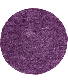 Uno Uno1 Violet 8' x 8' Round Area Rug