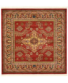 Bridgeport Home Harik Har5 Red 4' x 4' Square Area Rug