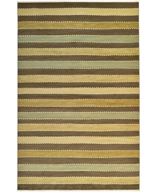 "Bridgeport Home Ojas Oja1 Brown 10' 6"" x 16' 5"" Area Rug"