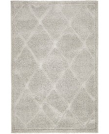 Bridgeport Home Filigree Shag Fil1 Gray 4' x 6' Area Rug
