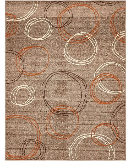 Bridgeport Home Jasia Jas05 Light Brown 9' x 12' Area Rug