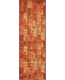 Jasia Jas07 Terracotta 2' x 6' Runner Area Rug