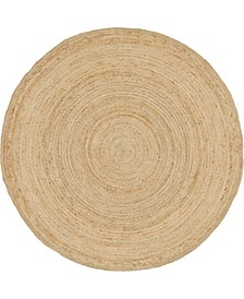 Braided Jute C Bjc5 Natural 8' x 8' Round Area Rug