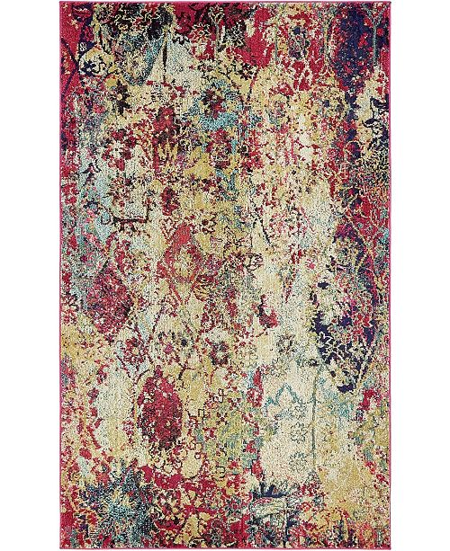 Bridgeport Home Newhedge Nhg2 Multi 5' x 8' Area Rug