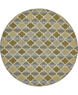 Pashio Pas1 Beige 8' x 8' Round Area Rug