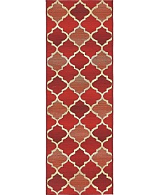Bridgeport Home Pashio Pas1 Red 2' x 6' Runner Area Rug