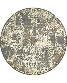 Tabert Tab1 Gray 8' x 8' Round Area Rug