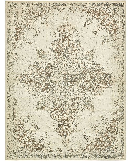 Bridgeport Home Tabert Tab7 Ivory 9' x 12' Area Rug