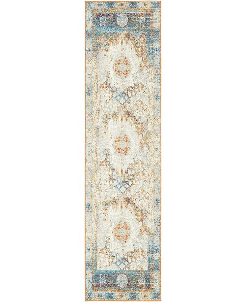 "Bridgeport Home Mishti Mis4 Beige 2' 7"" x 10' Runner Area Rug"