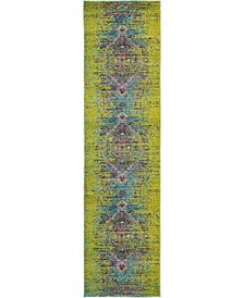 "Brio Bri6 Green 2' 7"" x 10' Runner Area Rug"