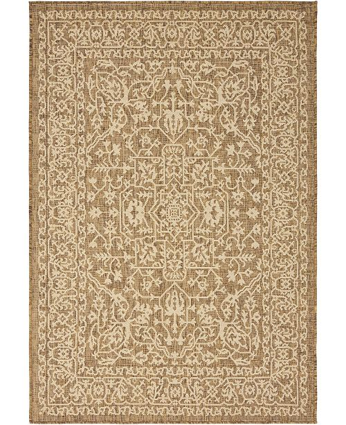 Bridgeport Home Pashio Pas6 Brown 4' x 6' Area Rug