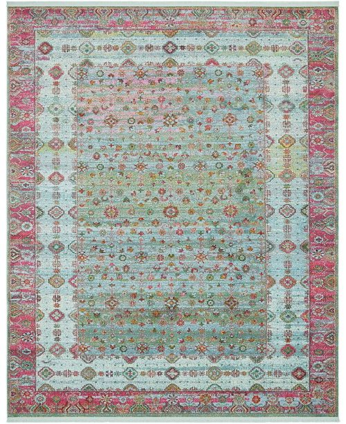 "Bridgeport Home Kenna Ken2 Blue 8' 4"" x 10' Area Rug"