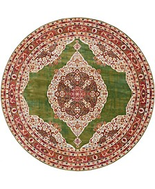 "Kenna Ken1 Green 8' 4"" x 8' 4"" Round Area Rug"