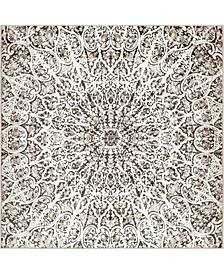 Basha Bas4 Brown 8' x 8' Square Area Rug