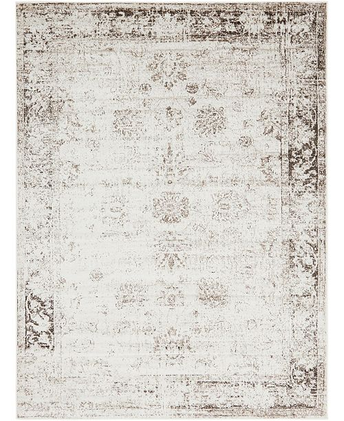 Bridgeport Home Basha Bas1 Beige 8' x 11' Area Rug