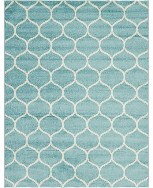Bridgeport Home Plexity Plx2 Light Blue 8' x 10' Area Rug