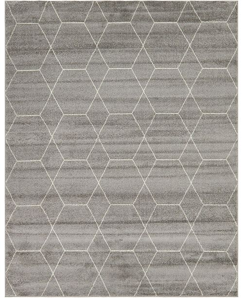 Bridgeport Home Plexity Plx1 Light Gray 8' x 10' Area Rug