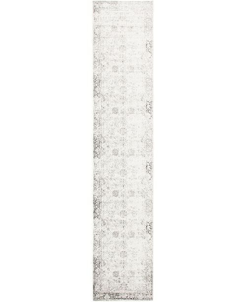 "Bridgeport Home Basha Bas1 Gray 3' 3"" x 16' 5"" Runner Area Rug"