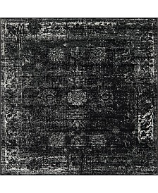 Bridgeport Home Basha Bas1 Black 8' x 8' Square Area Rug