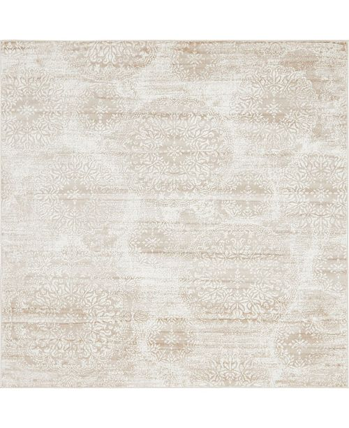 Bridgeport Home Basha Bas7 Beige 8' x 8' Square Area Rug