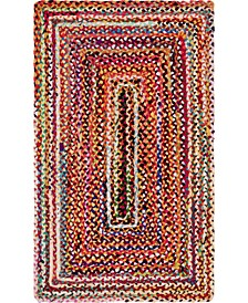 "Roari Cotton Braids Rcb1 Multi 3' 3"" x 5' Area Rug"