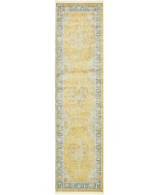 "Bridgeport Home Kenna Ken1 Yellow 2' 7"" x 10' Runner Area Rug"