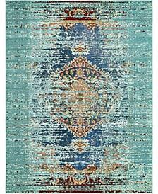 Brio Bri6 Turquoise 8' x 10' Area Rug