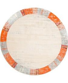 Bridgeport Home Haven Hav4 Orange 8' x 8' Round Area Rug
