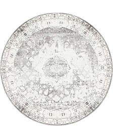 Mishti Mis4 Gray 8' x 8' Round Area Rug