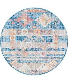 Nira Nir4 Blue 5' x 5' Round Area Rug