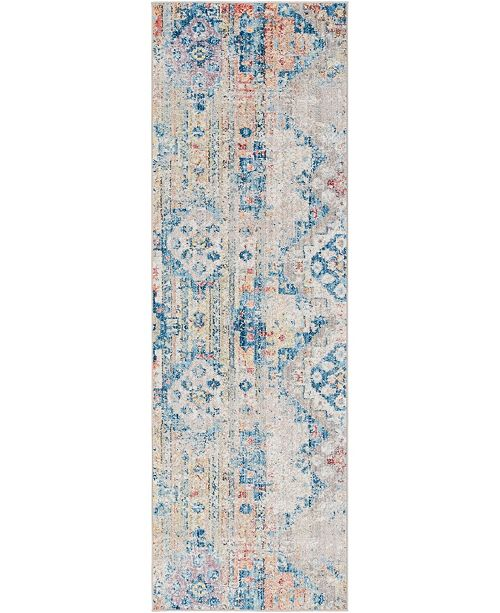 "Bridgeport Home Nira Nir6 Beige 2' 7"" x 8' 2"" Runner Area Rug"