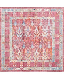 Zilla Zil2 Red 8' x 8' Square Area Rug