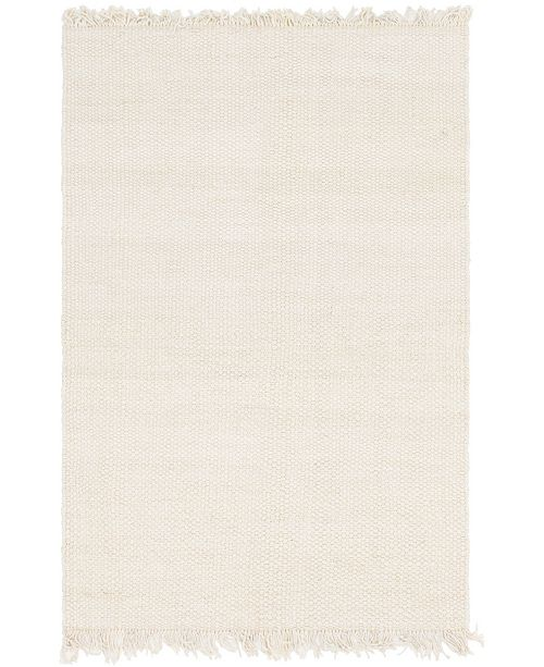 Bridgeport Home Stout Jute Stj1 Ivory 6' x 9' Area Rug