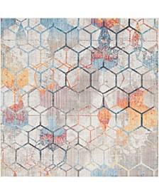 Prizem Shag Prz1 White 8' x 8' Square Area Rug