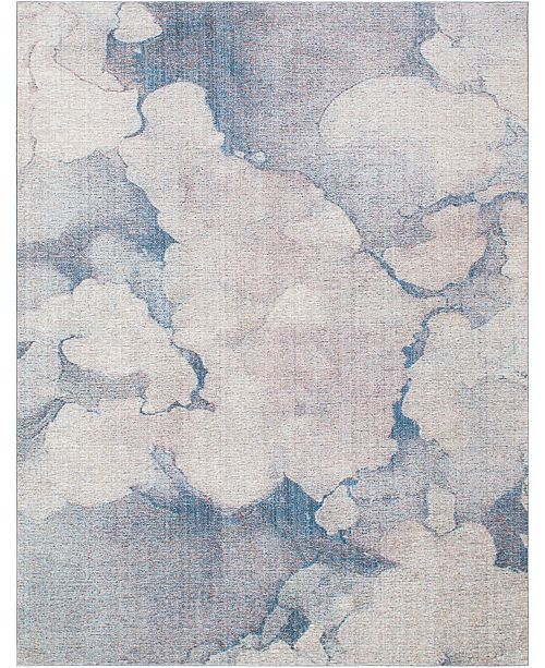 Bridgeport Home Prizem Shag Prz4 Blue Gray 10' x 13' Area Rug