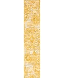 "Basha Bas7 Yellow 2' x 9' 10"" Runner Area Rug"