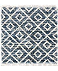Lochcort Shag Loc2 Blue 8' x 8' Square Area Rug
