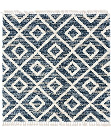 Bridgeport Home Lochcort Shag Loc2 Blue 8' x 8' Square Area Rug