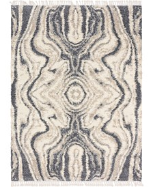 Bridgeport Home Lochcort Shag Loc4 Gray 9' x 12' Area Rug