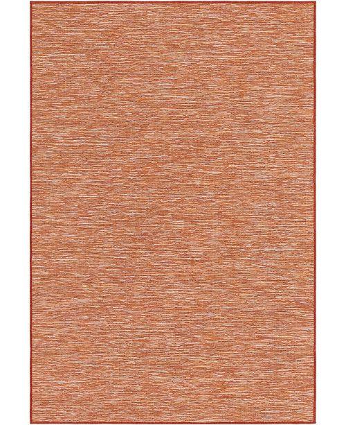 "Bridgeport Home Pashio Pas8 Terracotta 4' 2"" x 6' Area Rug"