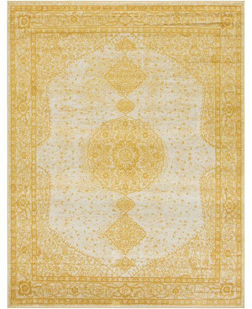 Bridgeport Home Mobley Mob1 Yellow 8' x 10' Area Rug