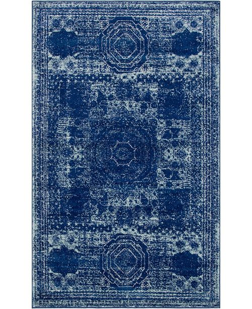 Bridgeport Home Mobley Mob2 Navy Blue 5' x 8' Area Rug
