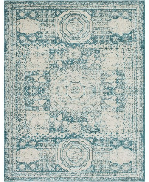 Bridgeport Home Mobley Mob2 Turquoise 8' x 10' Area Rug