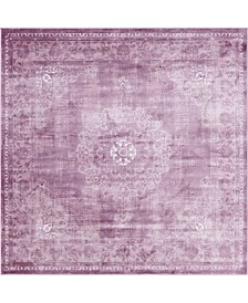 Bridgeport Home Anika Ani1 Violet 8' x 8' Square Area Rug