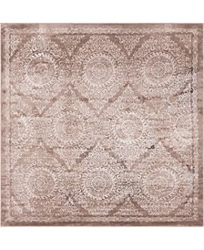 Anika Ani3 Light Brown 8' x 8' Square Area Rug